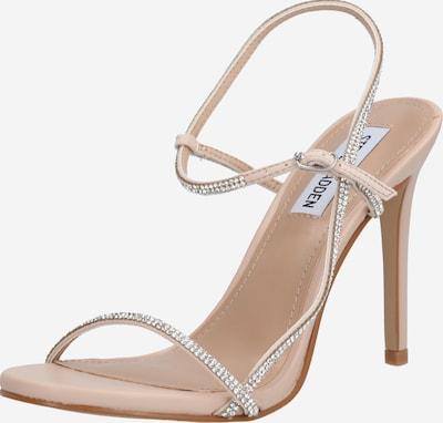 STEVE MADDEN Remienkové sandále 'Oaklyn' - béžová / strieborná: Pohľad spredu
