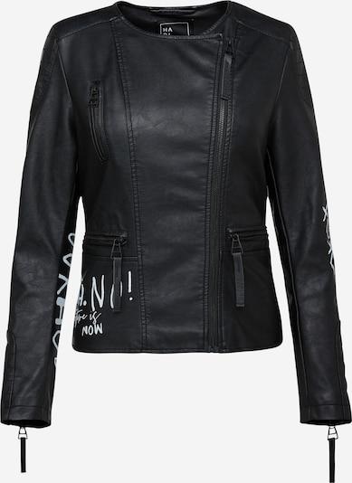 Harlem Soul Bikerjacke 'Ca-Ra' in schwarz / weiß, Produktansicht