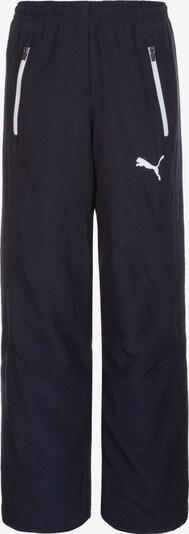 PUMA Pantalon de sport en bleu nuit / blanc, Vue avec produit