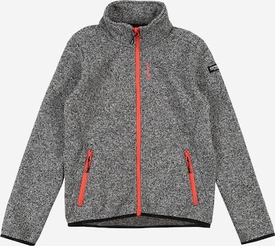 ICEPEAK Sportief sweatvest 'TAMRA' in de kleur Grijs / Oranjerood, Productweergave
