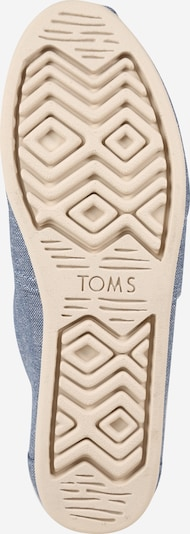 TOMS Slipper 'ALPARGATA' in dunkelblau / grau: Ansicht von unten