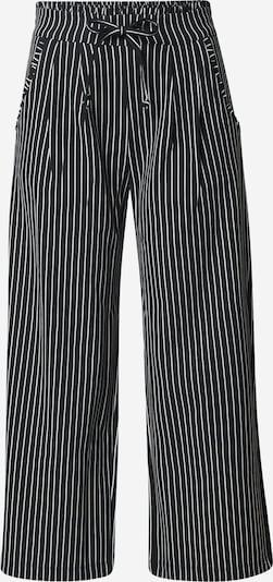 JACQUELINE de YONG Kalhoty se sklady v pase 'CATIA' - černá / offwhite, Produkt