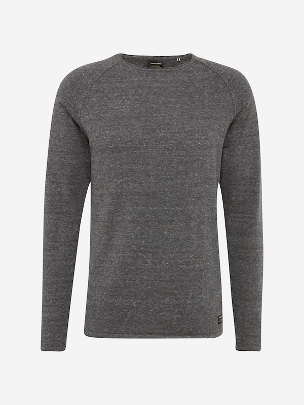 JACK & JONES Pullover 'JJEUNION KNIT CREW NECK' in graumeliert: Frontalansicht