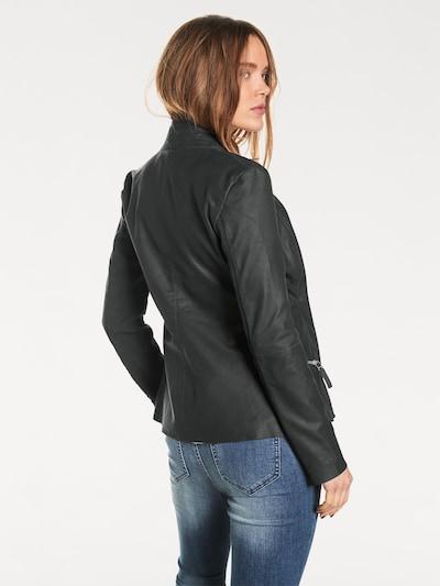 heine Ziegennappa-Jacke in schwarz, Produktansicht