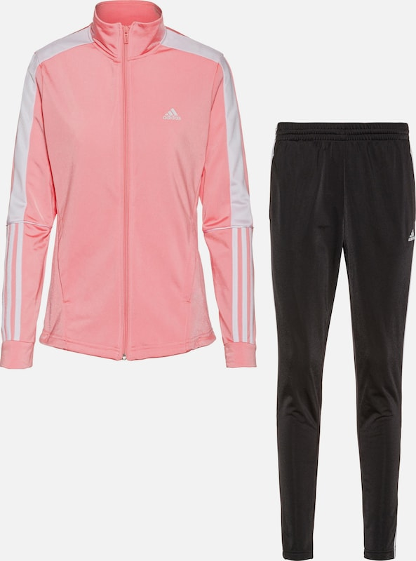 ADIDAS ORIGINALS Trainingsanzug in altrosa weiß | ABOUT YOU