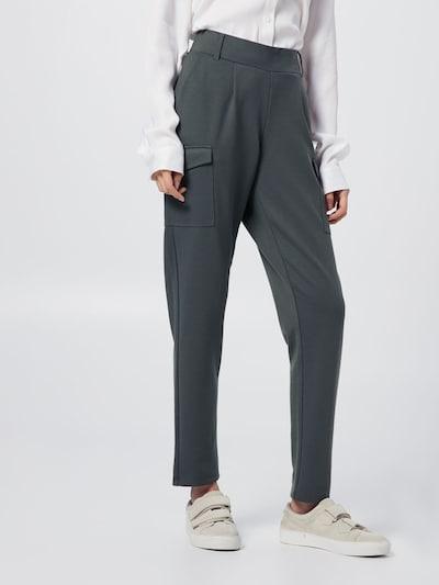 Soyaconcept Pantalon cargo 'DENA SOLID' en vert foncé, Vue avec modèle