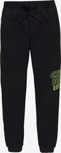 CHIEMSEE Hose in neongrün / schwarz, Produktansicht
