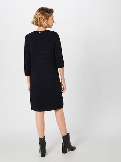 MORE & MORE Strickkleid in schwarz: Rückansicht