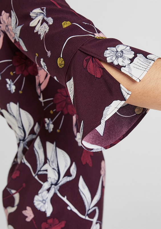 S.Oliver schwarz LABEL Kleid in mischfarben     bordeaux  Großer Rabatt dfaebf