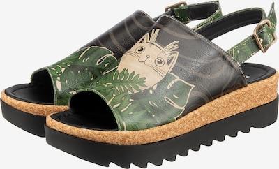 DOGO Sandalette 'Gigi Hidden Kitten' in beige / grau / grün / schwarz, Produktansicht