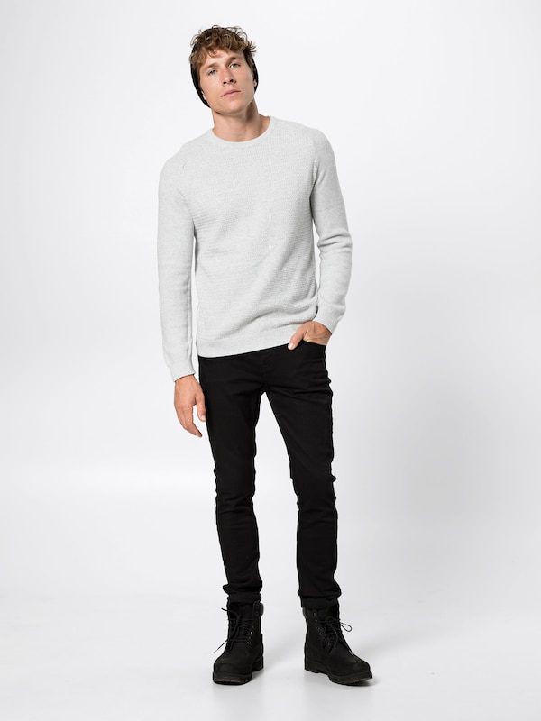 Pull Gris 'post Jackamp; Jones Crew Neck' Knit Clair En over tCBrxhQsd