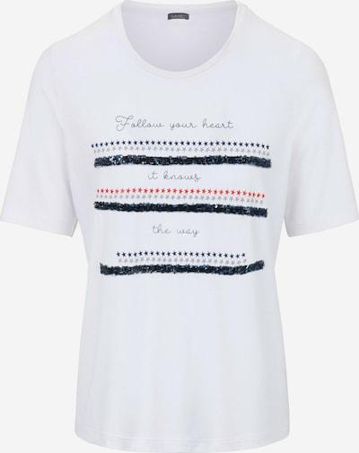 MYBC Rundhals-Shirt mit Wording in weiß, Produktansicht