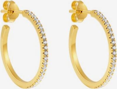 ID Fine Boucles d'oreilles 'White Simplicity' en or / blanc, Vue avec produit
