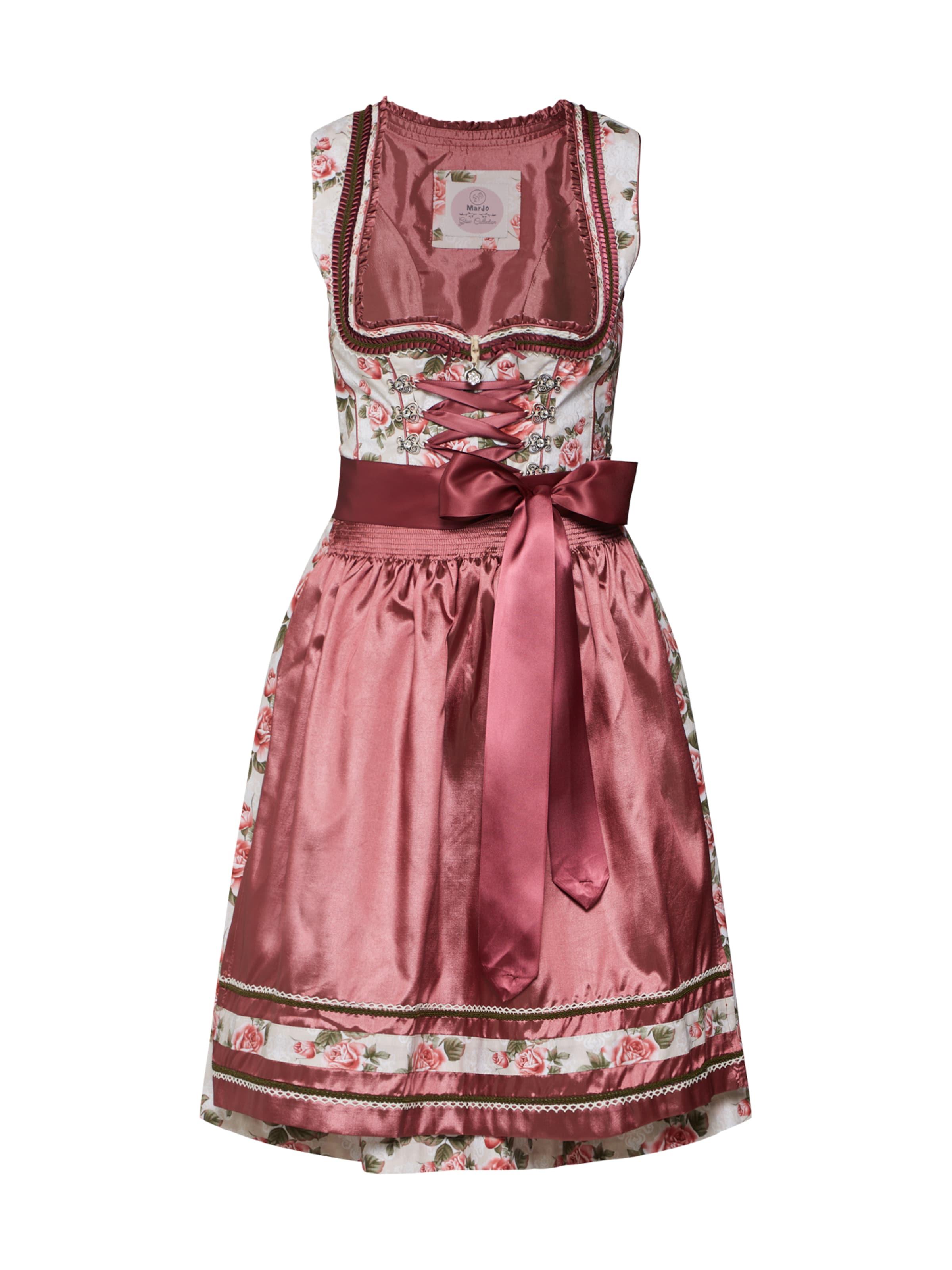 MARJO Dirndl 'Nakoma 58' i beige / rosa