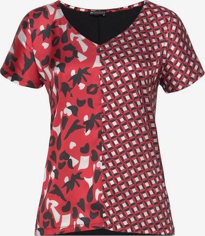 LAURA SCOTT Bluse in rot / schwarz / weiß, Produktansicht