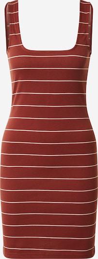 ONLY Sukienka 'ONLLOUI' w kolorze rdzawoczerwony / białym: Widok z przodu
