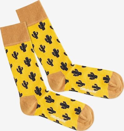 DillySocks Ponožky 'Desert Cactus' - žlté / čierna, Produkt