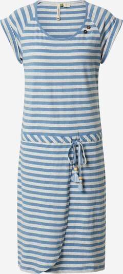Ragwear Kleid 'GLITTER ORGANIC' in blau / weiß, Produktansicht