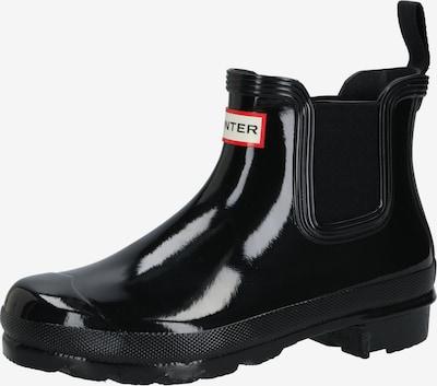 HUNTER Regenlaarzen in de kleur Zwart, Productweergave