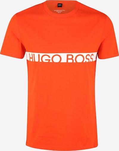 BOSS T-Shirt 'RN 10217081' in neonorange / weiß: Frontalansicht