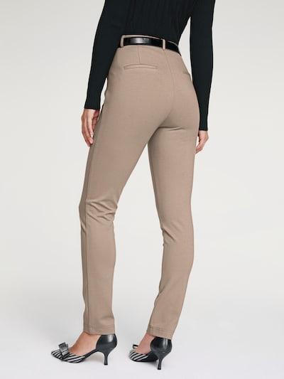 Kelnės su kantu iš heine , spalva - rausvai pilka: Vaizdas iš galinės pusės