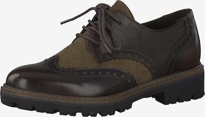 MARCO TOZZI Chaussure à lacets en moka / taupe, Vue avec produit