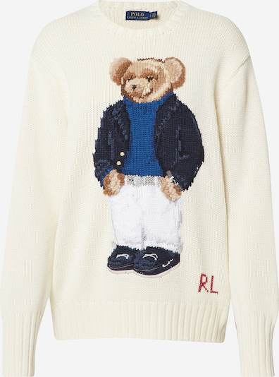 POLO RALPH LAUREN Sveter 'YACHT BEAR-LONG SLEEVE-SWEATER' - béžová, Produkt