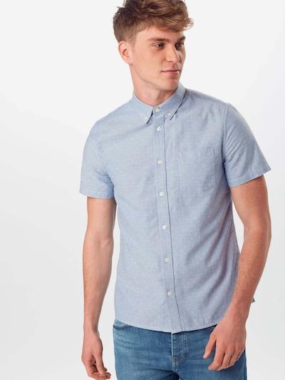 BURTON MENSWEAR LONDON Košeľa 'Oxford' - modré / biela: Pohľad spredu