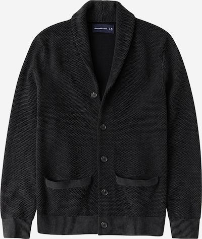 Abercrombie & Fitch Strickjacke 'GARMENT DYE' in schwarz, Produktansicht