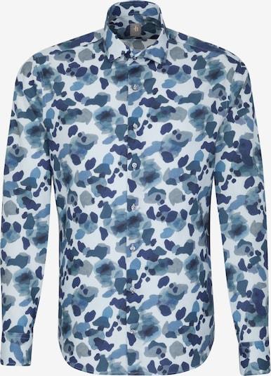 Jacques Britt Hemd in blau / indigo / rauchblau / grau / weiß, Produktansicht