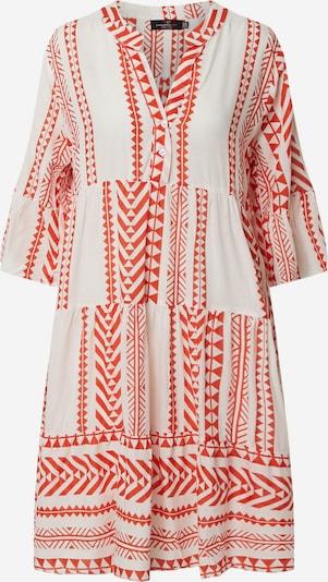 Zwillingsherz Kleid 'Hannah' in orange / weiß, Produktansicht