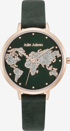 Julie Julsen Quarzuhr 'World' in rosegold / tanne: Frontalansicht