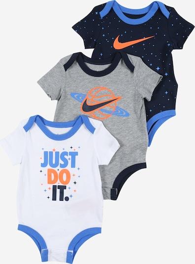 Nike Sportswear Strampler in navy / graumeliert / orange / weiß, Produktansicht