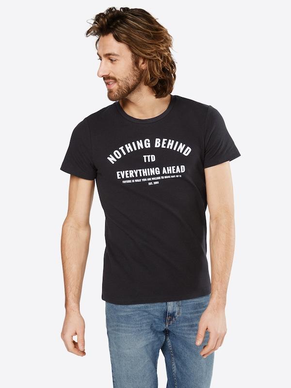 TOM TAILOR DENIM Strukturiertes T-Shirt mit Print