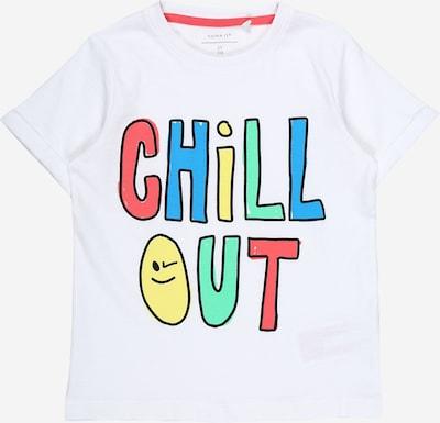 NAME IT T-Shirt 'Hamikke' in aqua / gelb / mint / rosé / weiß, Produktansicht