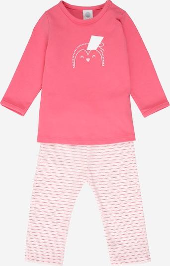 SANETTA Pyjama in pink / altrosa / weiß, Produktansicht