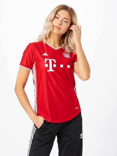 ADIDAS PERFORMANCE Koszulka funkcyjna w kolorze czerwony / białym: Widok z przodu