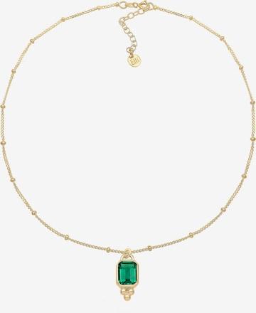 ELLI PREMIUM Edelsteinkette 'Vintage' in Gold