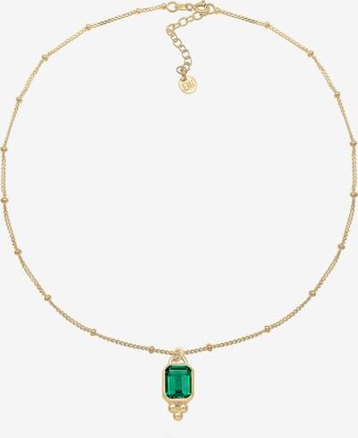 ELLI PREMIUM Edelsteinkette 'Vintage' in gold / grün, Produktansicht