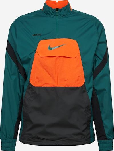 NIKE Športna jakna | petrol / temno oranžna / črna barva, Prikaz izdelka