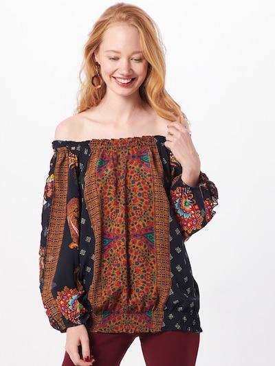 Desigual Blusenshirt 'INDIRA' in mischfarben / schwarz, Modelansicht