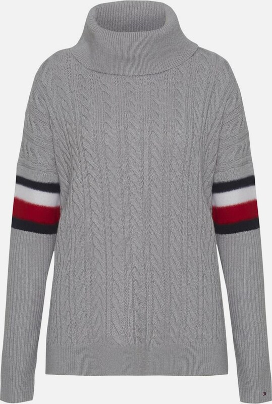 TOMMY HILFIGER Pullover 'AIDA CABLE CAPE SWTR'