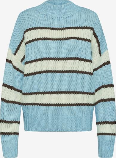 EDITED Pullover 'Egid' in hellblau / braun / offwhite, Produktansicht