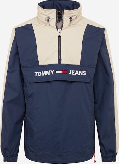 Tommy Jeans Windbreaker 'COLORBLOCK POPOVER' in dunkelblau / grau / weiß, Produktansicht