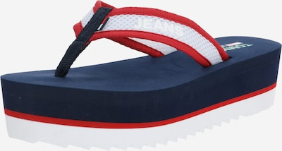 Tommy Jeans Slipper 'HARBOUR 2D1' in navy / rot / weiß, Produktansicht