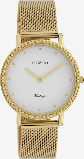 OOZOO Uhr in gold / weiß, Produktansicht
