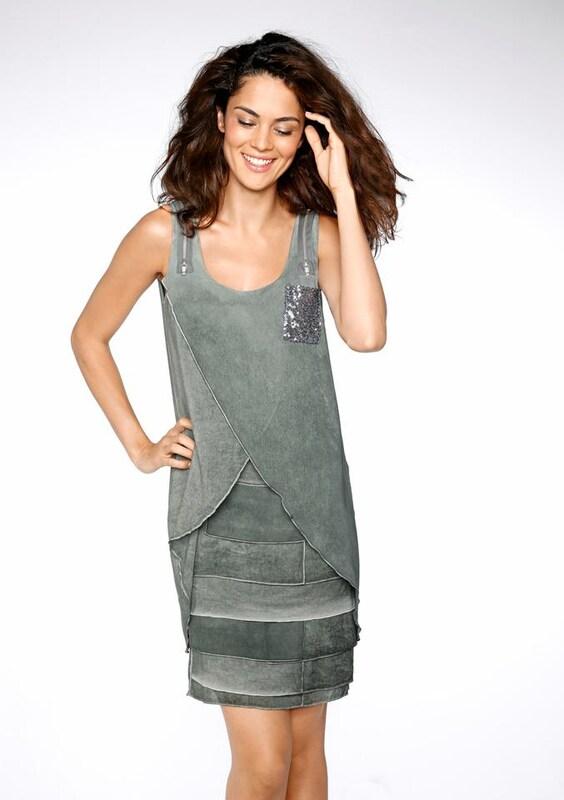 Heine Trägerkleid in pastellblau pastellblau pastellblau   grau  Markenkleidung für Männer und Frauen 6a5891