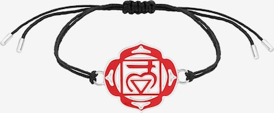 Nenalina Armband 'Chakra' in rot / schwarz / silber, Produktansicht