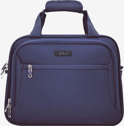 D&N Weekendtas 'Travel Line' in de kleur Violetblauw: Vooraanzicht