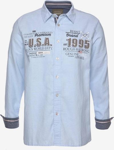 Man's World Hemd in rauchblau / grau, Produktansicht
